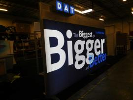 (2) Custom 20 ft. SuperNova LED Lightboxes with Header and HD Fabric Graphics