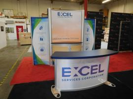 Modified eSmart ECO-1065 Inline with Storage, Fabric Graphics, and Custom Reception Counter