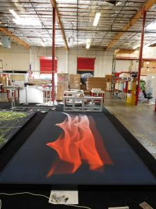 (2) Custom SEG Fabric Graphics with Black Powder-coated Frames