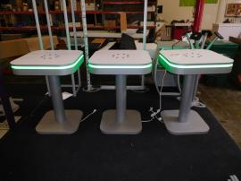 MOD-1437 Charging Station Tables with Programmable LED Perimeter Lights
