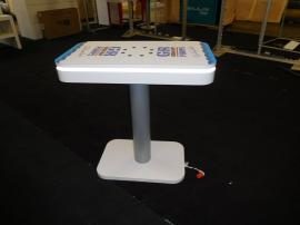 MOD-1443 Charging Table with Graphics, LED Perimeter Lights, and USB Charging Ports