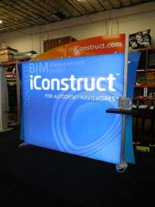 eSmart Inline LED Lightbox with Tension Fabric Graphics, Monitor Mount, and Direct Print Header