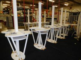 MOD-1182 Powder-coated Monitor Stands with Counters