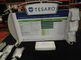 eSmart Modified ECO-103T Sustainable Table Top Display with Aluminum Frame, Header, Wings and Literature Holders