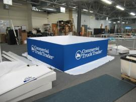 RENTAL: 10 ft. Square x 36 in. High Hanging Sign with Pillowcase Fabric Graphic