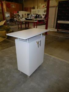 eSmart ECO-2C Counter with Raised Countertop and Locking Storage (back)