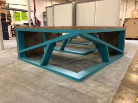 (3) Custom L-Shaped Office Desks