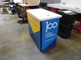 DI-616 Portable Folding Panel Counter with Internal Shelf, Locking Doors, and Direct Print Graphics