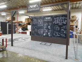 Custom Island with Laminated Engineered Extrusion and Large Format SEG Fabric Graphics