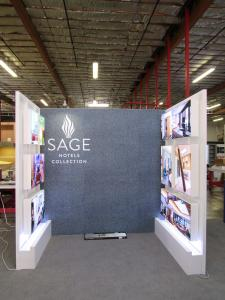 Custom Display with SEG Fabric Graphic and LED Lightboxes