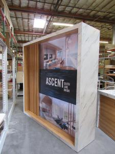 Custom Sales and Marketing Backwall and Counter (Promotional Kiosk)