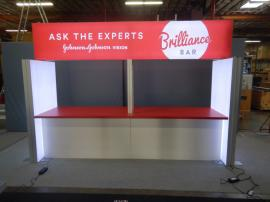 "RENTAL: Custom ""Brilliance Bar"" with Double-Sided Header Lightbox"