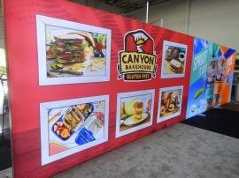 RENTAL: 8 ft x 30 ft Single-Sided Lightbox with one Seamless SEG Backlit Fabric Graphic