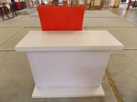 ecoSmart FSC Wood Reception Counter with Literature Pockets. All Graphics Made of Recycled Fabric