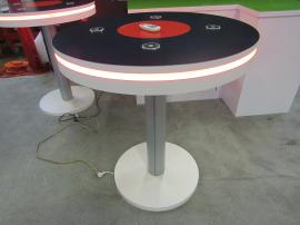 MOD-1453 Bistro Charging Tables with Graphics and Programmable LED Perimeter Lights