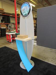 Modified ECO-14K Sustainable Kiosk with Monitor Mount and Graphics