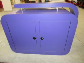 Custom MOD-1540 Reception Counter with Backlit Graphic and Locking Storage -- Back View