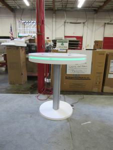 MOD-1453 Bistro Charging Table with Wireless/Wired Ports and Programmable RGB Accent Perimeter Lights