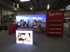 Custom Modular Island and 10 x 20 Exhibit with Multiple SuperNova Lightboxes