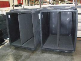(2) LT-530 Roto-molded Jumbo Tubs with Casters