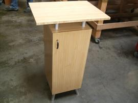 Eco-systems Sustainable Small Bamboo Cabinet with Internal Storage -- Image 1