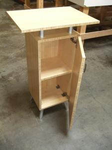 Eco-systems Sustainable Small Bamboo Cabinet with Internal Storage -- Image 2