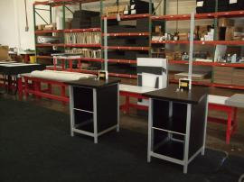 (2) MOD-1232 Modular Workstations with Locking Storage