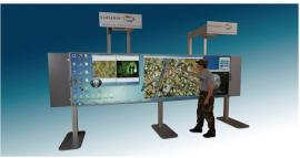 Interactive Display with High Resolution Functionality Featuring a Touchscreen Whiteboard and (2) Projectors -- Image 3