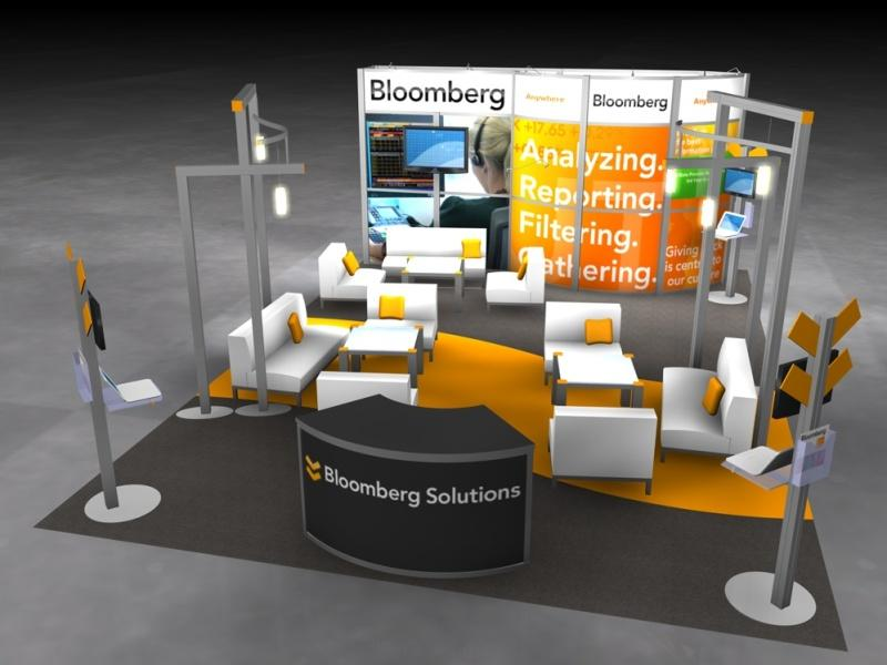 Exhibition Booth Area : Display search reo bloomberg island rental