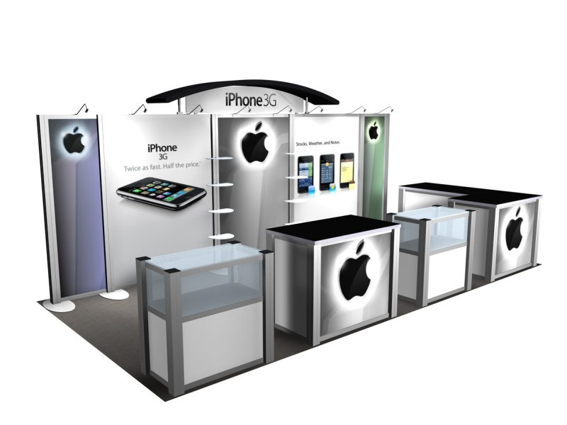 Exhibition Booth Accessories : Display search reo iphone rental inline displays